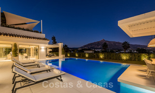 Refurbished luxury villa in contemporary style for sale, close to amenities in the golf valley of Nueva Andalucia, Marbella 31788