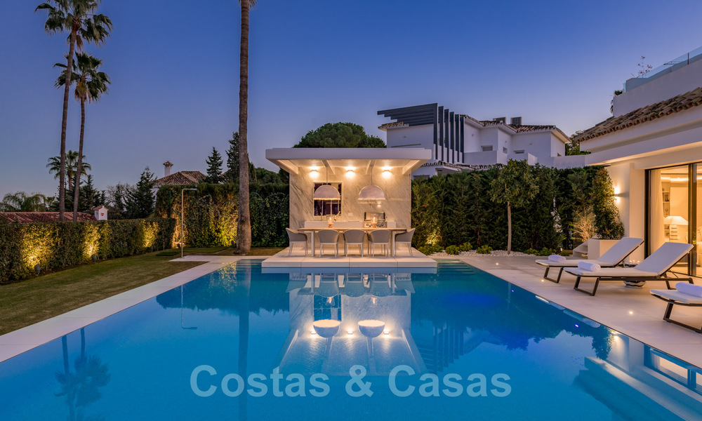 Refurbished luxury villa in contemporary style for sale, close to amenities in the golf valley of Nueva Andalucia, Marbella 31791