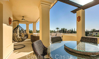 Spacious luxury penthouse with panoramic views for sale on a golf course in Nueva Andalucia, Marbella 32086