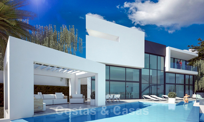 Move in ready! New modern style villa for sale with stunning open sea views in Marbella, close to the beaches and centre 32315