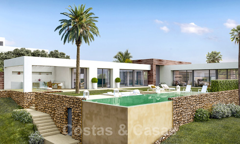 Modern new build villas for sale with stunning sea views in Marbella, close to the beaches and centre 32150