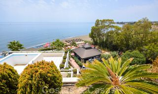 Frontline beach penthouse apartment for sale with private pool on the New Golden Mile, between Marbella and Estepona 32176