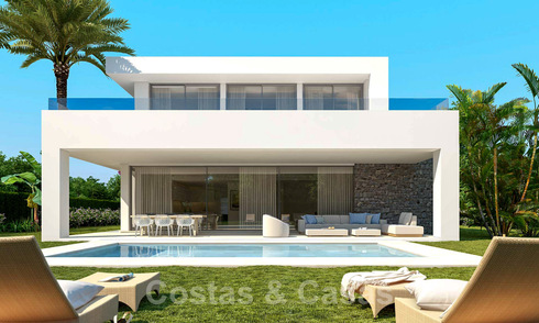 New build luxury villas for sale in East Marbella. Last villas! Construction has started. 32166