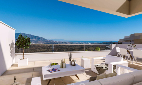 New modern apartments for sale with stunning sea- golf- and mountain views in golf resort in La Cala de Mijas - Costa del Sol 32600