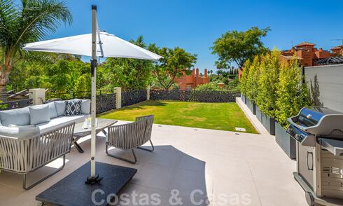 Stunning contemporary refurbished south facing luxury garden flat for sale in Nueva Andalucia, Marbella 32867