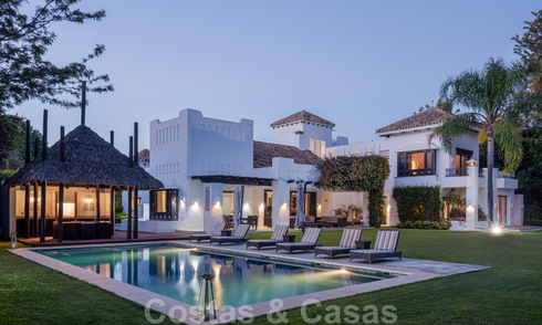 Luxury villa for sale in Spanish style within walking distance to the beach, golf course and amenities in the prestigious Guadalmina Baja in Marbella 32925