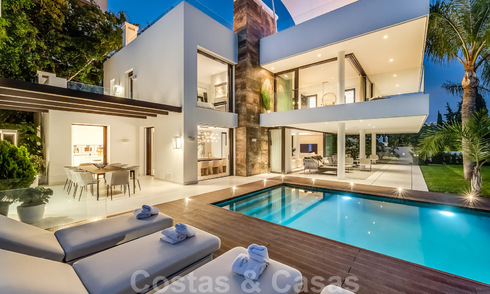 Brand new modern beachside villa for sale on the Golden Mile at walking distance to Marbella centre and all amenities 33194