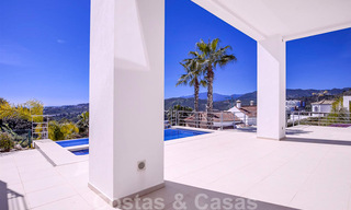 Ready to move in, new modern luxury villa for sale with sea views in Marbella - Benahavis in gated community 33589