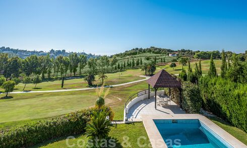 Modern luxury villa for sale in Marbella - Benahavis with panoramic golf views, ready to move in 33487