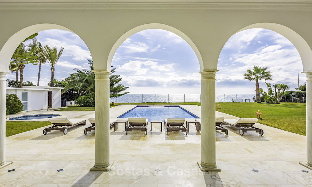 Stately, very luxurious beachfront palace for sale, between Estepona and Marbella 11631