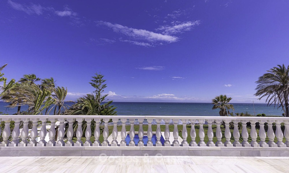 Stately, very luxurious beachfront palace for sale, between Estepona and Marbella 13022