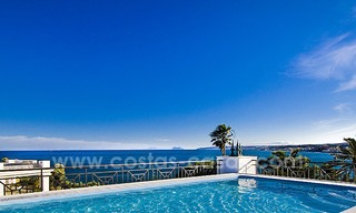 Frontline beach luxury penthouse to buy, Estepona, Costa del Sol, first line beach with open sea view and private pool 9855