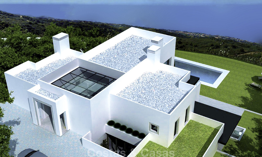 Modern new villa for sale in Marbella with unobstructed panoramic sea views 15825