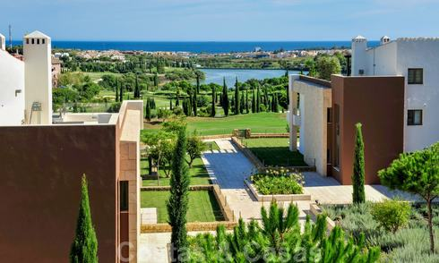 Modern luxury frontline golf apartments with stunning golf and sea views for sale in Marbella - Benahavis 23897