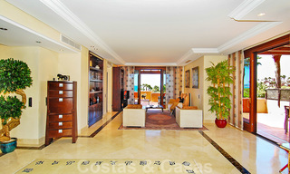 Luxury first line beach penthouse apartment for sale on the New Golden Mile, between Puerto Banus and Estepona centre 23203