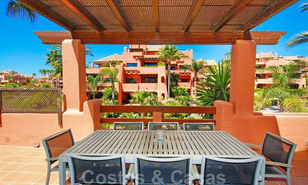 Luxury first line beach penthouse apartment for sale on the New Golden Mile, between Puerto Banus and Estepona centre 23212