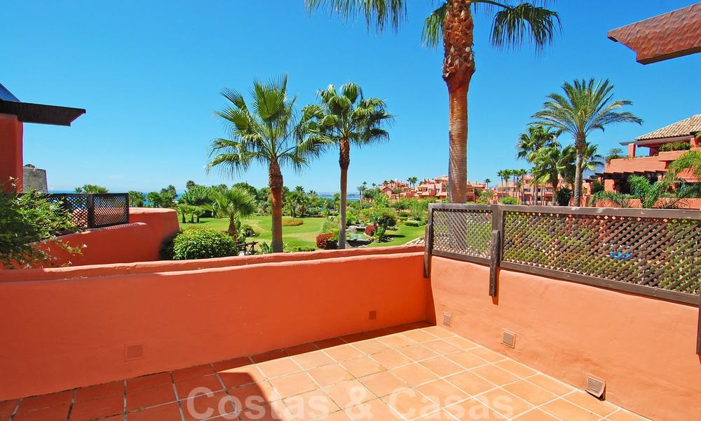Luxury first line beach penthouse apartment for sale on the New Golden Mile, between Puerto Banus and Estepona centre 23213