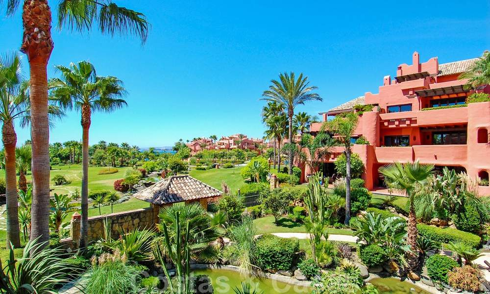 Luxury first line beach penthouse apartment for sale on the New Golden Mile, between Puerto Banus and Estepona centre 23215