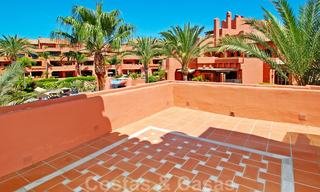 Luxury first line beach penthouse apartment for sale on the New Golden Mile, between Puerto Banus and Estepona centre 23217