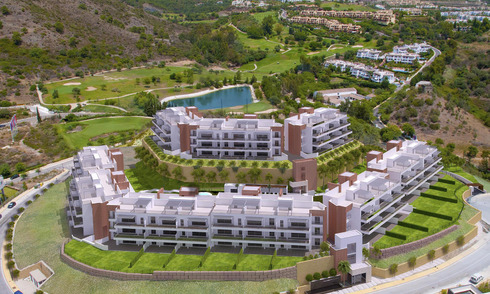 Ready to move in modern and luxury golf apartments for sale in Marbella - Benahavis with sea view 30590