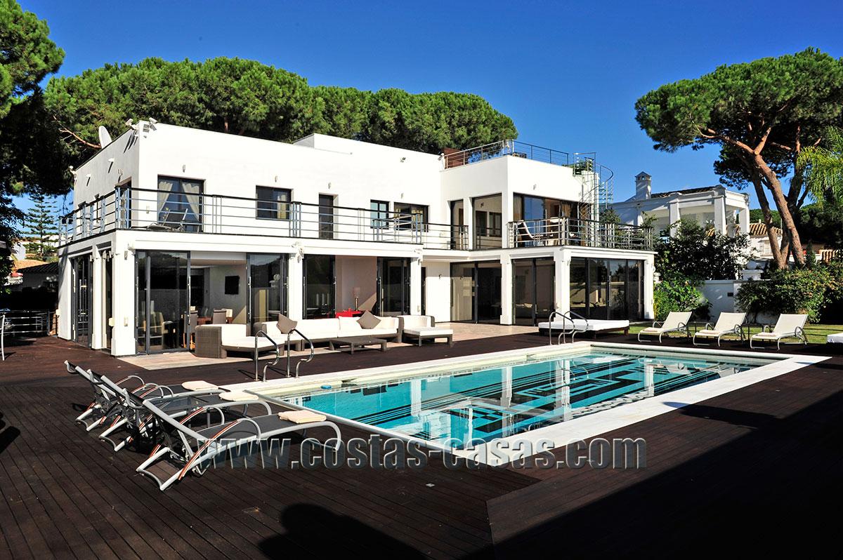 Modern style First line beach luxury villa for sale Marbella