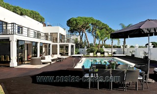 Modern contemporary style First line beach luxury villa for sale in Marbella 5415