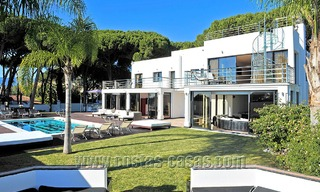 Modern contemporary style First line beach luxury villa for sale in Marbella 5416