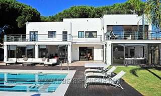 Modern contemporary style First line beach luxury villa for sale in Marbella 5417
