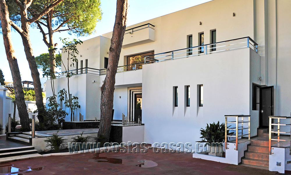 Modern contemporary style First line beach luxury villa for sale in Marbella 5425