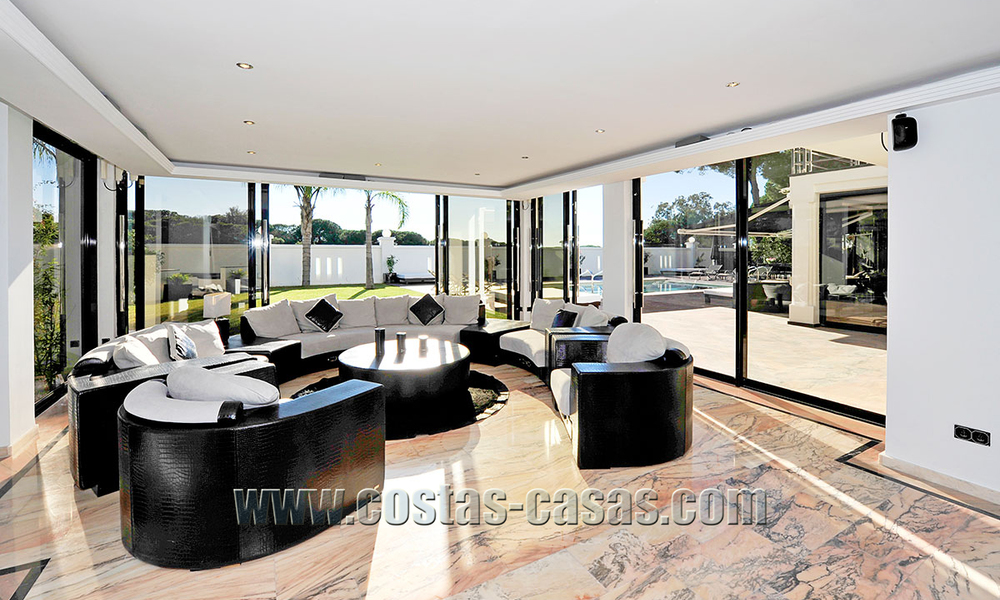 Modern contemporary style First line beach luxury villa for sale in Marbella 5427