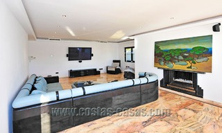 Modern contemporary style First line beach luxury villa for sale in Marbella 5428