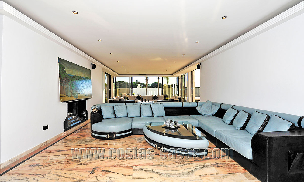 Modern contemporary style First line beach luxury villa for sale in Marbella 5429