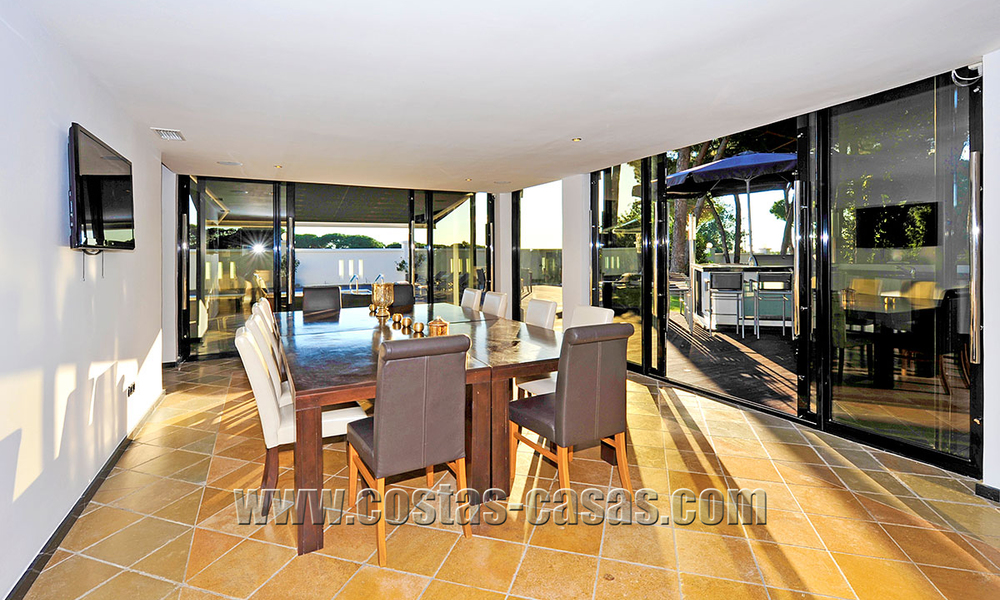 Modern contemporary style First line beach luxury villa for sale in Marbella 5430