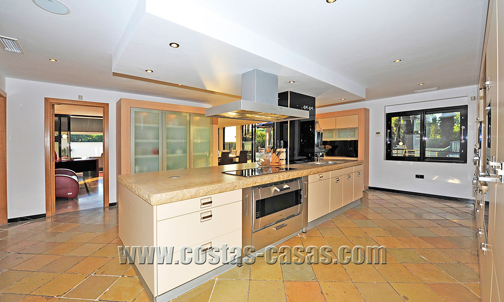 Modern contemporary style First line beach luxury villa for sale in Marbella 5433