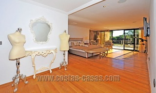 Modern contemporary style First line beach luxury villa for sale in Marbella 5435