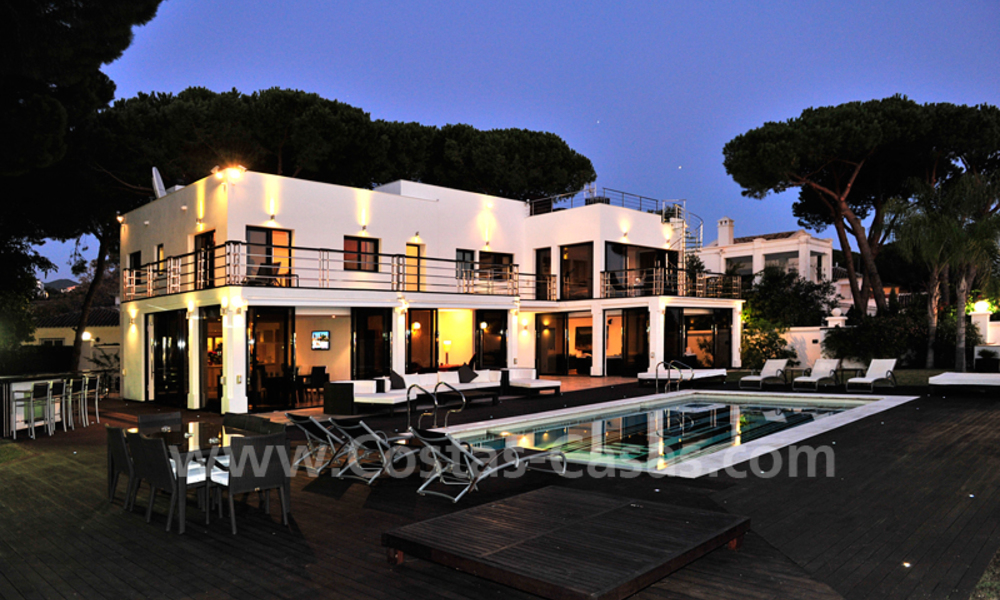 Modern contemporary style First line beach luxury villa for sale in Marbella 5460