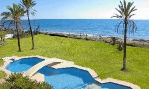 First line beach villa for sale - Estepona - Costa del Sol